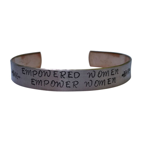 Empowered Women Empower Women- 1/2 inch Copper -Inspirational Jewelry-Graduation Gift - Mantra Bracelet