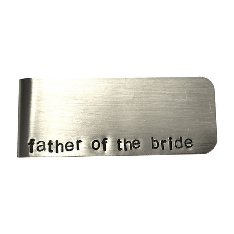 Father of the Bride Aluminum Money Clip - Father of the bride gift, father daughter, wedding gift, wedding party gift