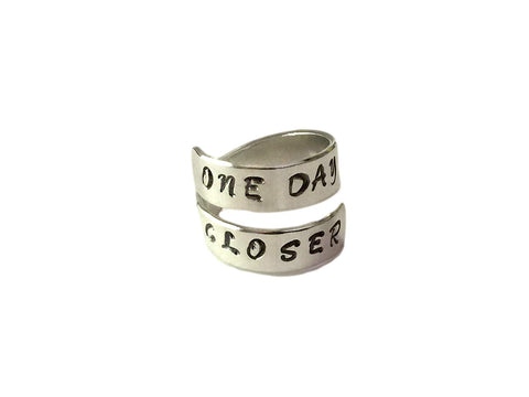 ONE DAY CLOSER - Secret Message Ring- Deployment Jewelry- Long Distance Relationship