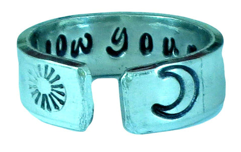 Follow Your Bliss Ring, Quote Ring, Words Of Wisdom Inspirational Jewelry, Hand Stamped Aluminum Ring