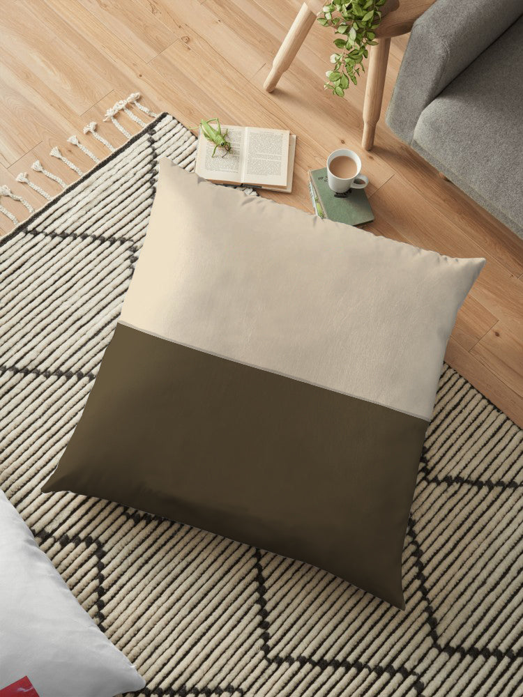 Filled Floor Cushion 80 x 80 cm-D-18C - Cottonhome.ae
