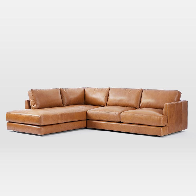Italian Leather 2-Piece Terminal Chaise Sectional - Cotton Home