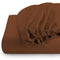 REST 3PCS SET DOUBLE FITTED SHEET SUPER SOFT-BROWN - Cotton Home