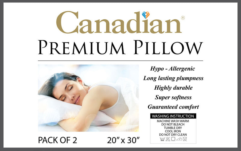 Canadian Pack of 2 piece Pillow-White - Cottonhome.ae