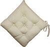 Quilted Chair Pad-Beige 40x40cm - Cottonhome.ae