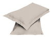2pair Super soft Pillow Case-Beige - Cottonhome.ae