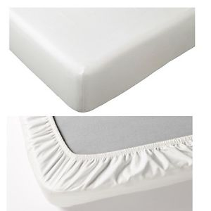 FITTED SHEET SATEEN  WHITE-100 X 200 CM - Cottonhome.ae