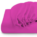 Rest Super soft Fitted sheet 120 X 200 + 25 CM-FUSCHIA - Cotton Home