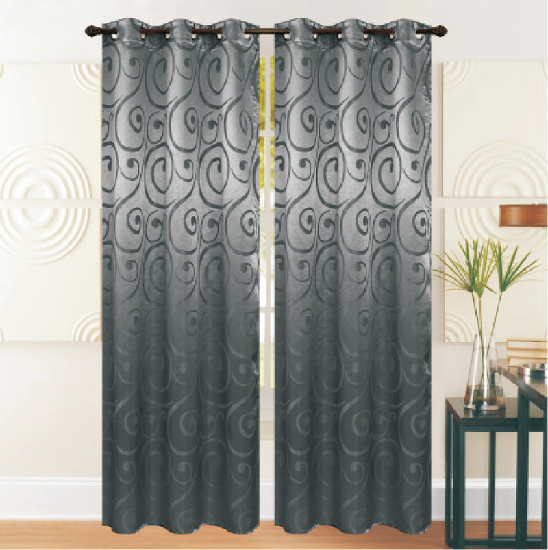 REST COLLECTION 2 PAIR CURTAIN-GREY - Cotton Home