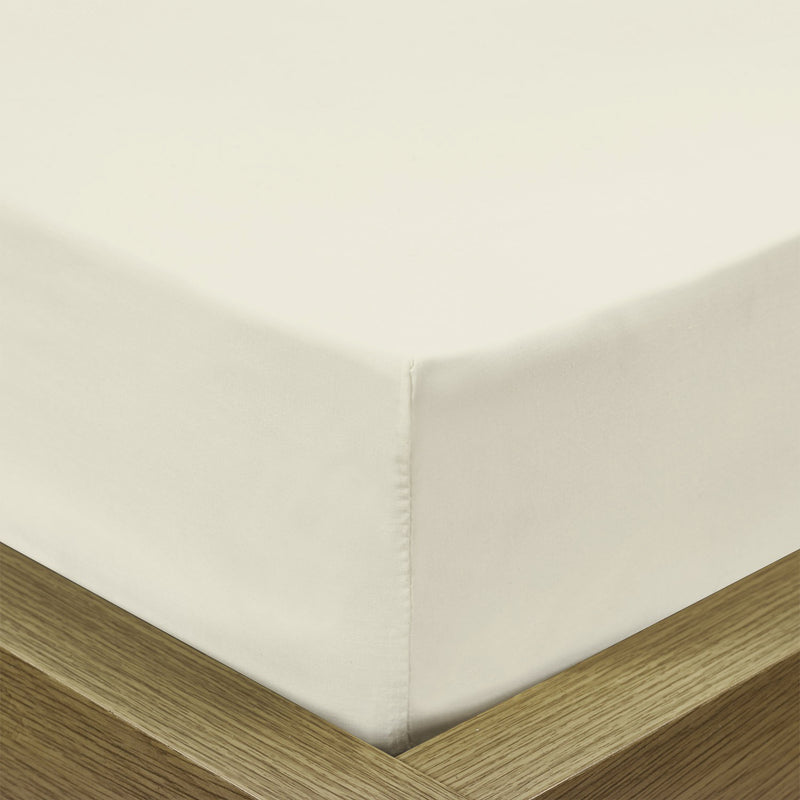 Rest Super Soft Double Flat Sheet 200x220cm-Ivory - Cottonhome.ae