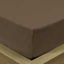 Rest Super Soft Single Flat Sheet 160x220cm-Khaki - Cottonhome.ae