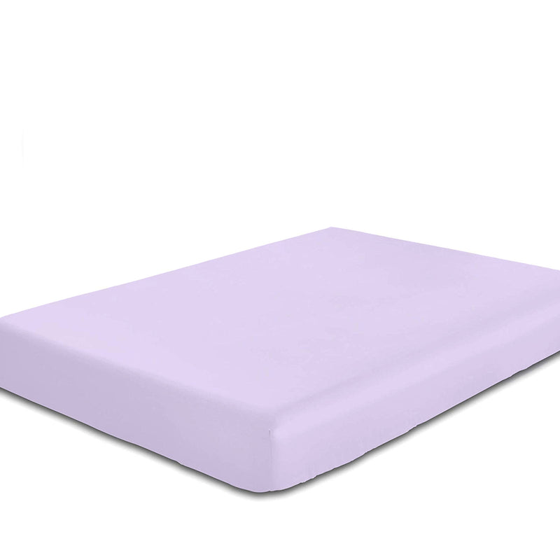 Rest Super Soft Double Flat Sheet 200x220cm-Lt Purple - Cottonhome.ae