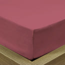 REST 3PCS SET QUEEN FITTED SHEET SUPER SOFT-MAUVE - Cottonhome.ae