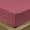 Rest Super soft Fitted sheet 160 X 200 + 30 CM-Mauve - Cottonhome.ae