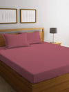 REST 3PCS SET KING FITTED SHEET SUPER SOFT-MAUVE - Cottonhome.ae