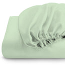 Rest Super soft Fitted sheet 160 X 200 + 30 CM-Mint Green - Cotton Home