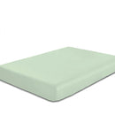 Rest Super Soft Double Flat Sheet 200x220cm-Mint Green - Cotton Home