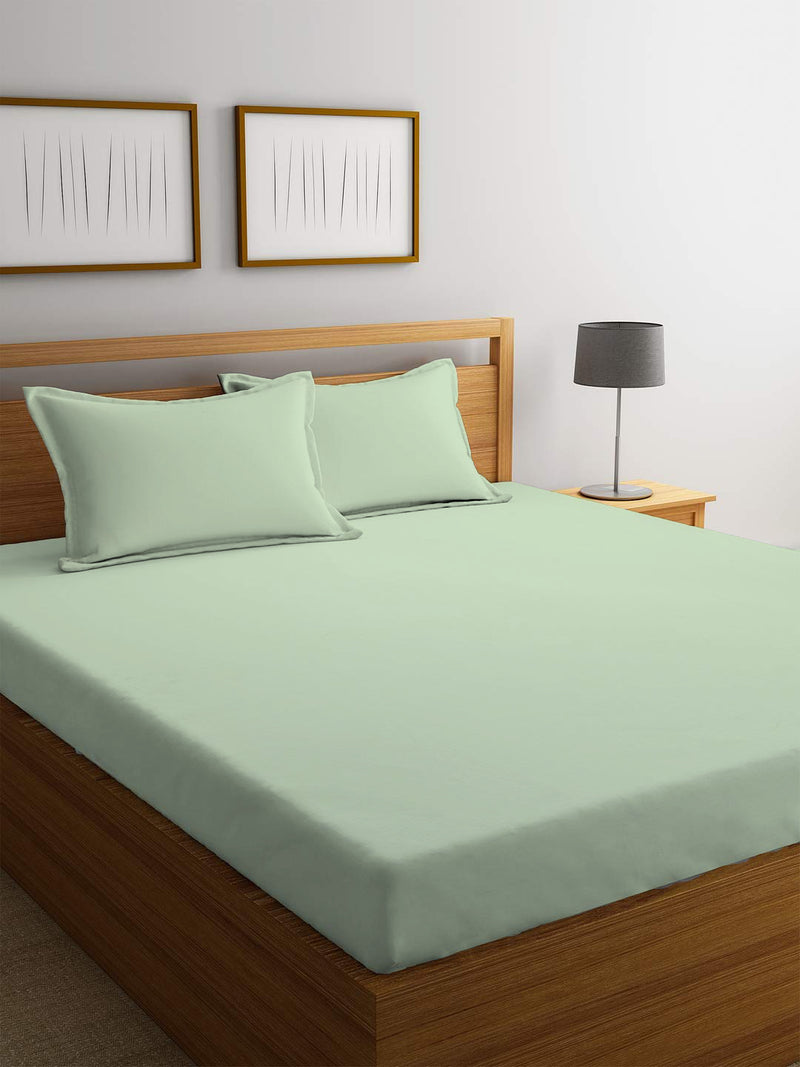 REST 3PCS SET SINGLE FITTED SHEET SUPER SOFT-MINT GREEN - Cottonhome.ae