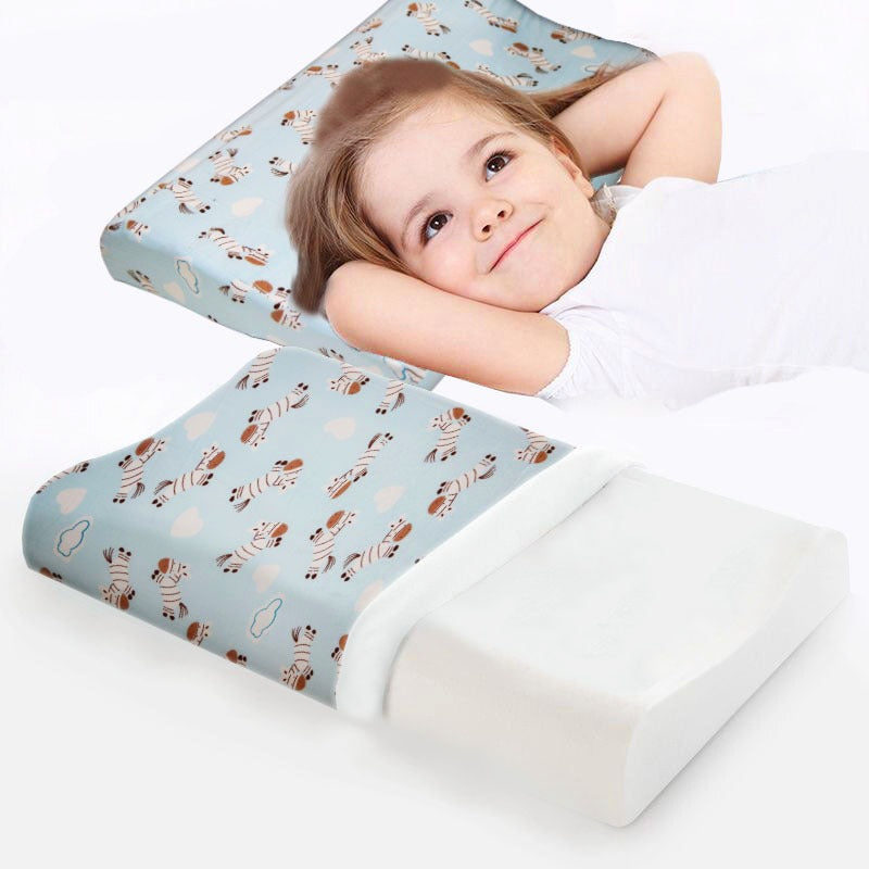 Rest Baby's Memory Foam Pillow-Horse Blue - Cottonhome.ae