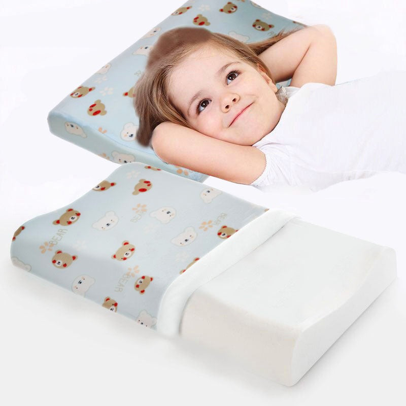 Rest Baby's Memory Foam Pillow-Bear Light Blue - Cottonhome.ae