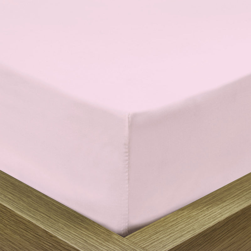 REST 3PCS SET DOUBLE FITTED SHEET SUPER SOFT-PINK - Cotton Home
