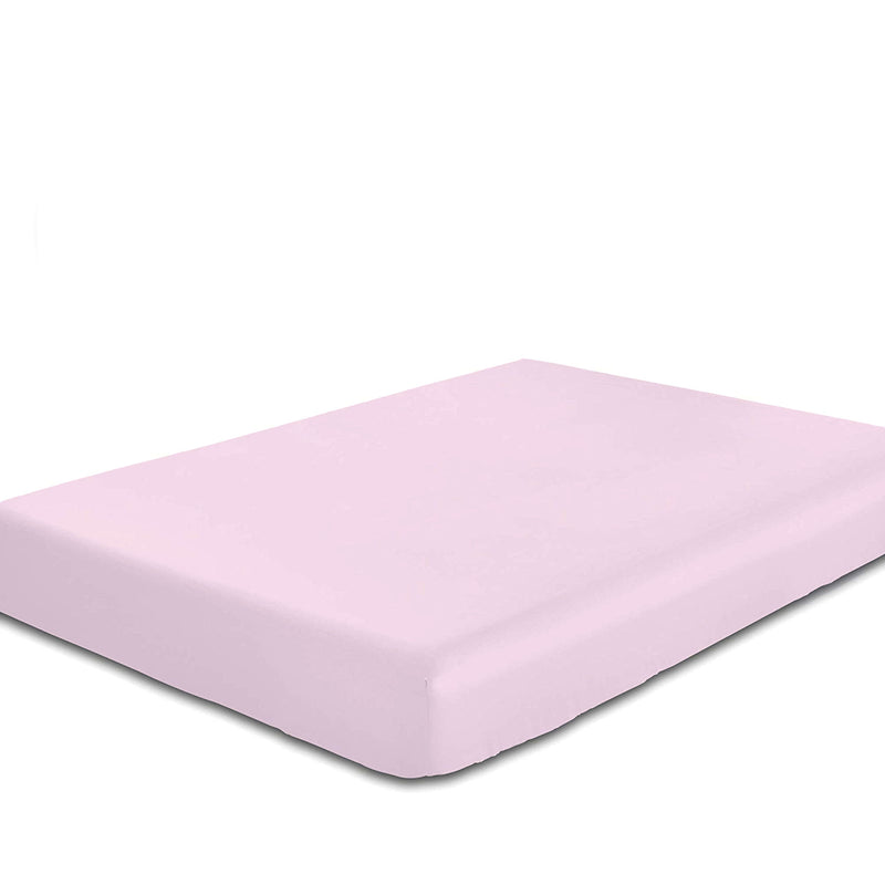 Rest Super Soft Queen Flat Sheet 220x240cm-Pink - Cottonhome.ae