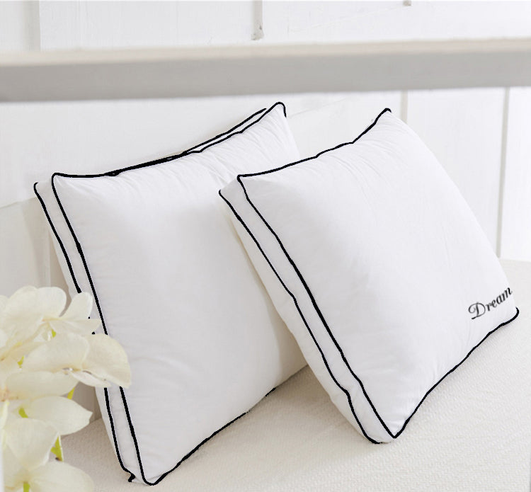 Dream Pillow - 2 Pcs 100% Cotton Box Pillow Super Soft White-50 x 75 cm - Cottonhome.ae