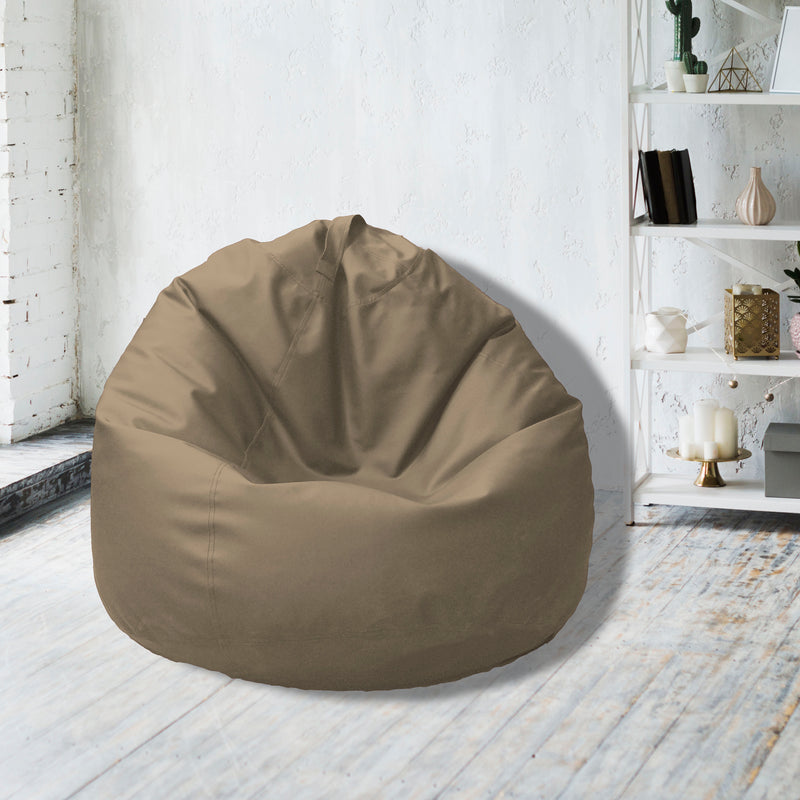 Leather Bean Bag Big Size-Beige - Cottonhome.ae