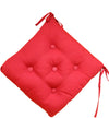 Quilted Chair Pad-Red 40x40cm - Cottonhome.ae
