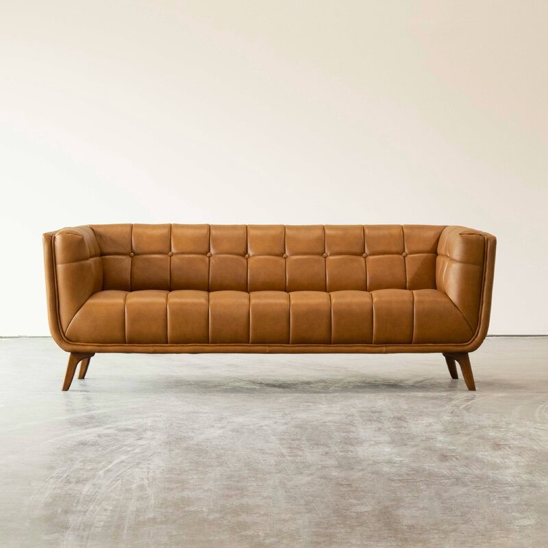 Barkell Pu Leather Arm Sofa - Cotton Home