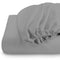 Rest Super soft Fitted sheet 160 X 200 + 30 CM-Silver - Cottonhome.ae