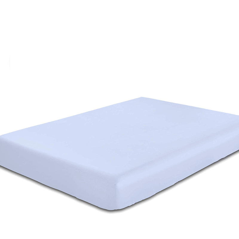 Rest Super Soft Single Flat Sheet 160x220cm-Sky Blue - Cottonhome.ae