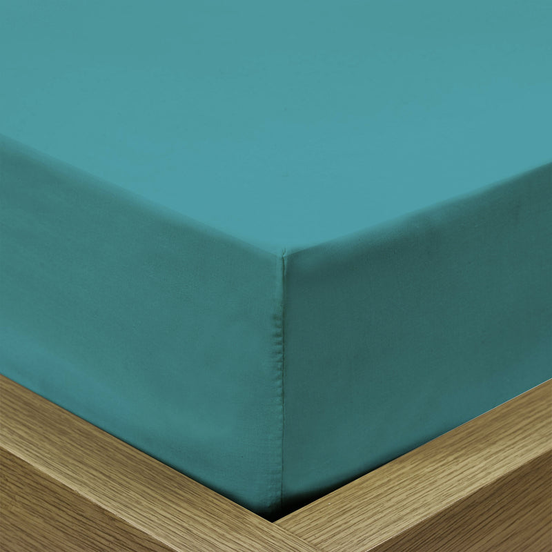 REST 3PCS SET DOUBLE FITTED SHEET SUPER SOFT-TEAL - Cottonhome.ae