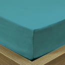 REST 3PCS SET KING FITTED SHEET SUPER SOFT-TEAL - Cotton Home
