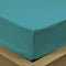 Rest Super soft Fitted sheet 120 X 200 + 25 CM-Teal - Cottonhome.ae