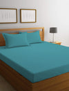 REST 3PCS SET KING FITTED SHEET SUPER SOFT-TEAL - Cottonhome.ae
