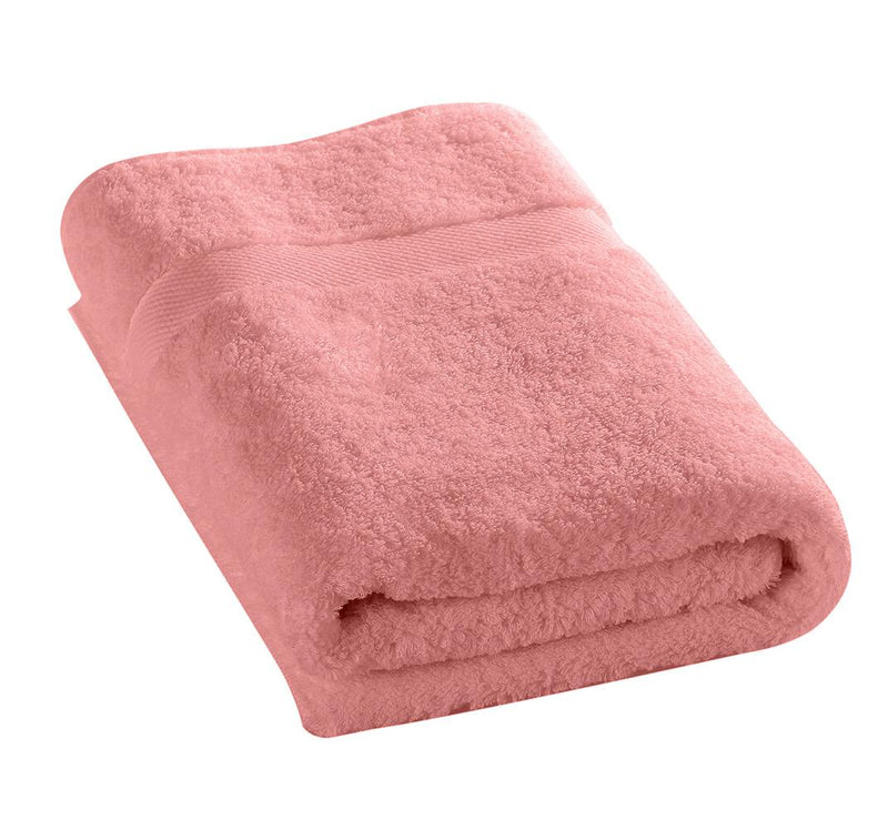 100% Cotton Towel 50x100cm-Dusty pink - Cottonhome.ae