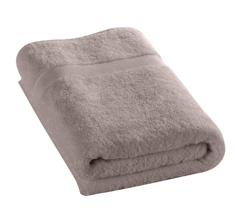 100% Cotton Towel 50x100cm-Taupe - Cottonhome.ae