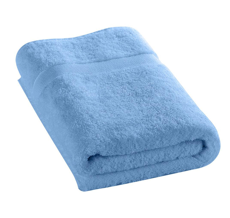 100% Cotton Bath Towel 70x140cm-Sky blue - Cottonhome.ae