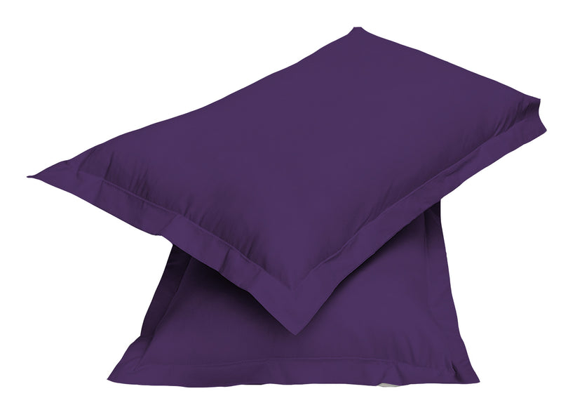 2pair Super soft Pillow Case-Dk Purple - Cotton Home