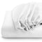 Rest Super soft Fitted sheet 160 X 200 + 30 CM-White - Cottonhome.ae
