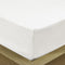 Rest Super soft Fitted sheet 120 X 200 + 25 CM-WHITE - Cottonhome.ae