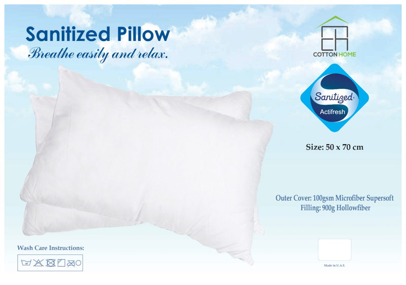 Sanitized pack of 2 Pillow - 50x75cm - Cotton Home
