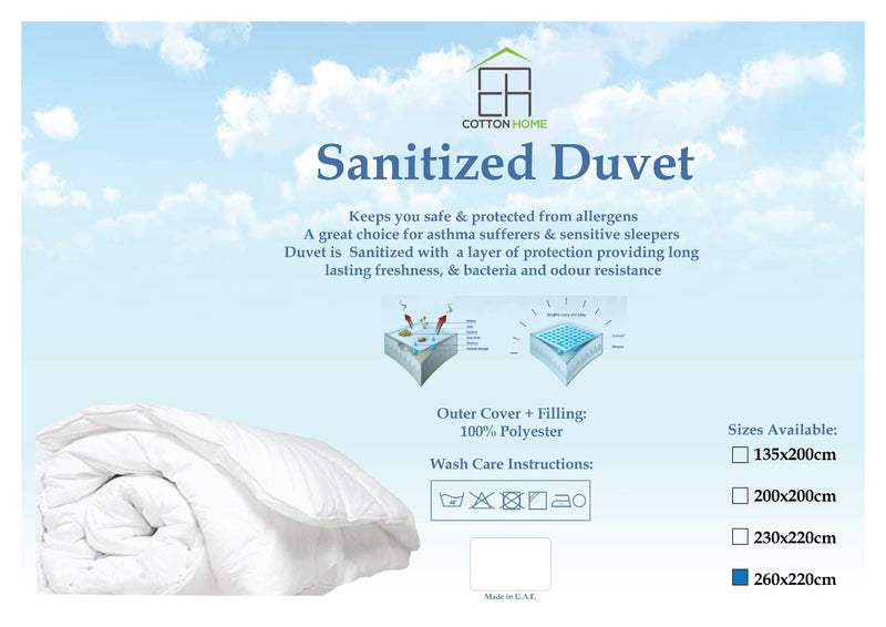 Sanitized Duvet - 260x220cm - Cotton Home