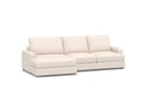 Convertible Sectional Sofa Couch, L-shaped Couch With Modern Linen Fabric For Small Space Beige - Cotton Home