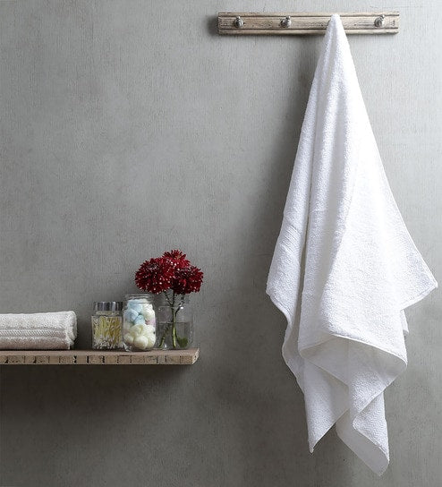 Sleep Down 1 Pc Bath Towel 70 X 140 CM-100% Cotton White 600gsm - Cottonhome.ae