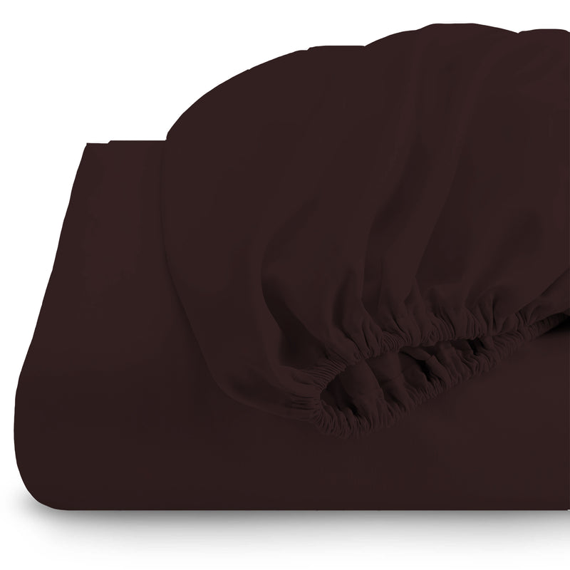 Rest Super soft Fitted sheet 120 X 200 + 25 CM-Brown - Cotton Home