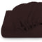 Rest Super soft Fitted sheet 160 X 200 + 30 CM-Brown/Chocolate - Cottonhome.ae