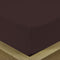 COTTON RICH SATEEN SINGLE FLAT SHEET BROWN-220 X 240 CM - Cottonhome.ae