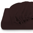 Rest Super Soft fitted sheet 90 x 200 + 20 CM-BROWN - Cotton Home